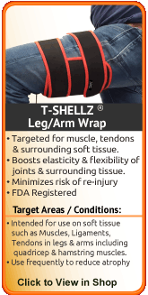 TShellz Wrap Arm for treatment of the forearm, biceps, triceps, and median and ulnar nerves