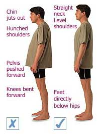 Stand tall to prevent injury to your body.